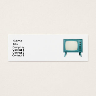Rétro télévision mini carte de visite