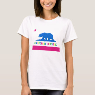 Retro Vlag van de Republiek van Californië van de T Shirt