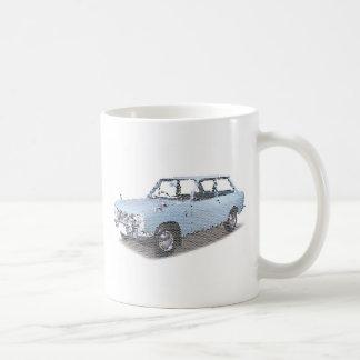 Rétro voiture mug blanc