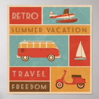 Rétro voyage de vacances d'été de KRW