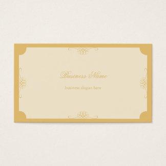 Rétros affaires simples élégantes d'or cartes de visite