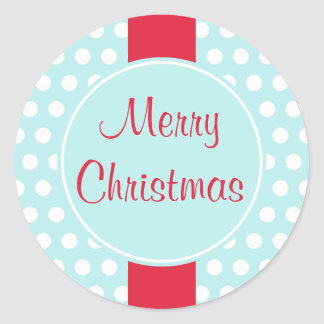 Rétros autocollants bleus de Joyeux Noël