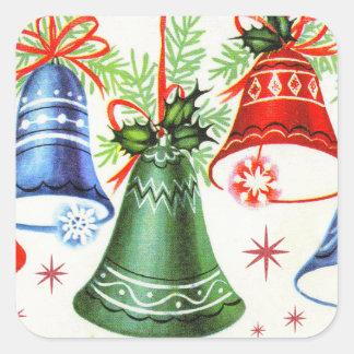 Rétros autocollants de vacances de cloches de Noël
