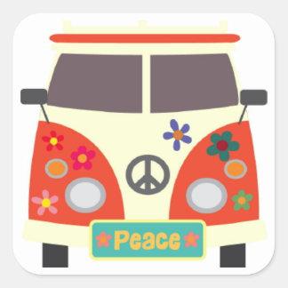 Rétros autocollants hippies d'autobus