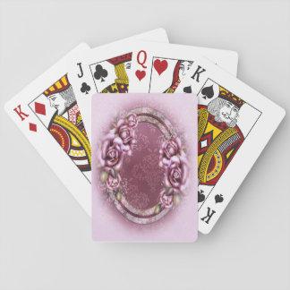 Rétros cartes de jeu roses de roses cartes à jouer