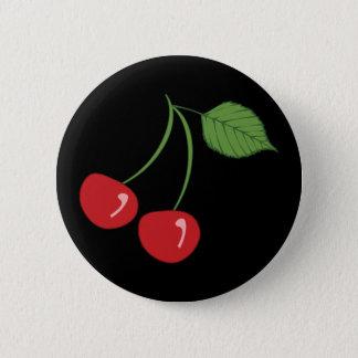 Rétros cerises badge rond 5 cm