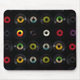 Rétros disques vintages du vinyle 45 tapis de souris