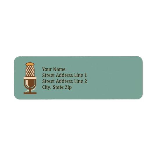 Rétros étiquettes de adresse de retour de
