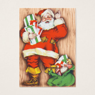 Rétros étiquettes de nom de Noël de Père Noël Cartes De Visite