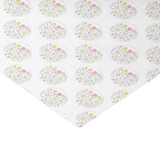 Rétros fleurs de marguerite avec les cercles papier mousseline