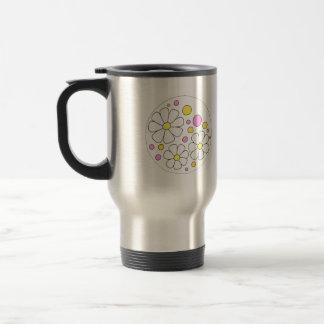 Rétros fleurs de marguerite pour le cadeau de mug de voyage en acier inoxydable