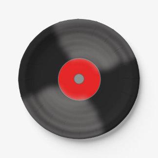 Rétros plaques à papier de musique des années 1950 assiettes en papier