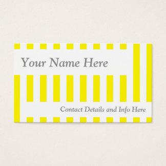 Rétros rayures jaunes classiques cartes de visite