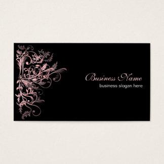 Rétros remous roses élégants de fleur cartes de visite