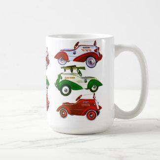 Rétros voitures vintages de pédale de jouet mug