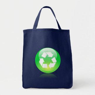 Réutilisez le sac d'épicerie d'icône