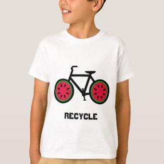 Réutilisez le T-shirt d'enfants de bycycle