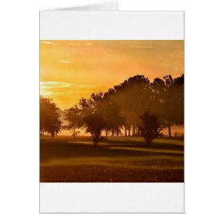 Rêve de golfeurs de coucher du soleil cartes de vœux