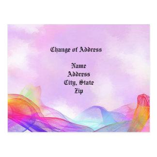 Rêver dans le changement d'adresse rose des cartes