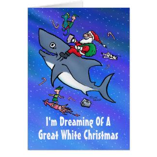 Rêver de la grande carte de Noël blanc