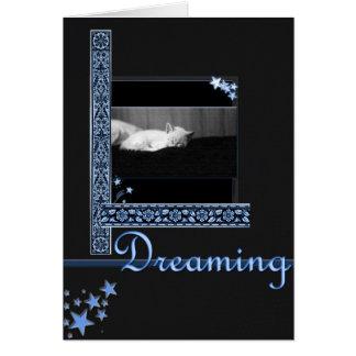 Rêver (nuit étoilée) carte de correspondance
