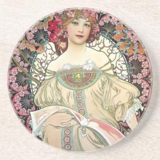 Rêverie 1897 d'Alfons Mucha Dessous De Verre En Grès