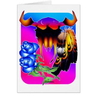 Rêves bleus de fleur carte de correspondance