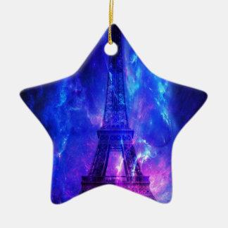Rêves d'améthyste de Paris du ciel de la création Ornement Étoile En Céramique