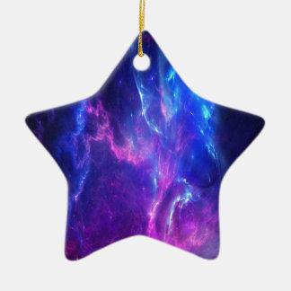 Rêves d'améthyste ornement étoile en céramique