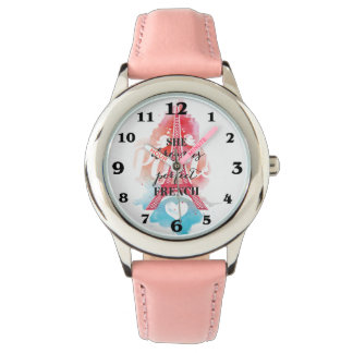 Rêves dans la montre française de rose d'acier