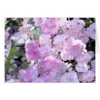 Rêves d'aquarelle dans la carte violette