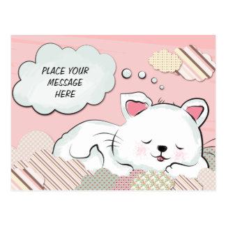 Rêves de chat avec la carte de nuages peinte par