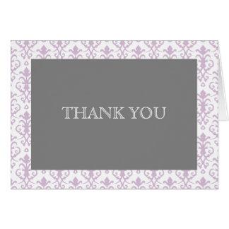 Rêves doux dans la note de Merci de damassé de Carte