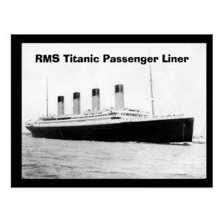 Revêtement de passager titanique de RMS Carte Postale