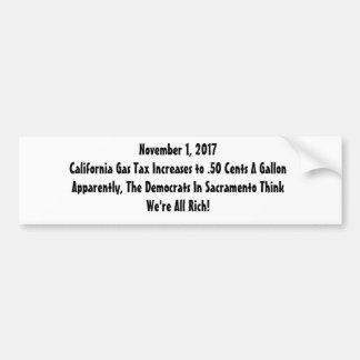Révolte de taxe sur l'essence autocollant de voiture