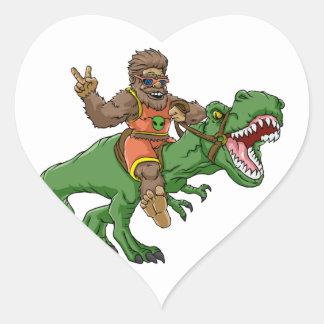rex Bigfoot de rex-T de la Bigfoot-bande dessinée Sticker Cœur
