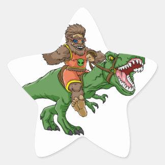 rex Bigfoot de rex-T de la Bigfoot-bande dessinée Sticker Étoile