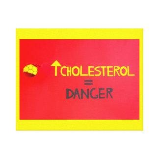 riche en cholestérol   sur la toile enveloppée