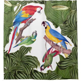 Rideau en douche d'animaux de faune d'oiseaux de