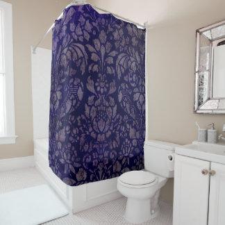 Rideau en douche de bleu d'indigo