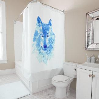Rideau en douche de loup d'hiver d'aquarelle