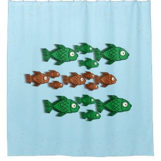 Rideau en douche de poisson