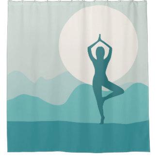 Rideau en douche de yoga