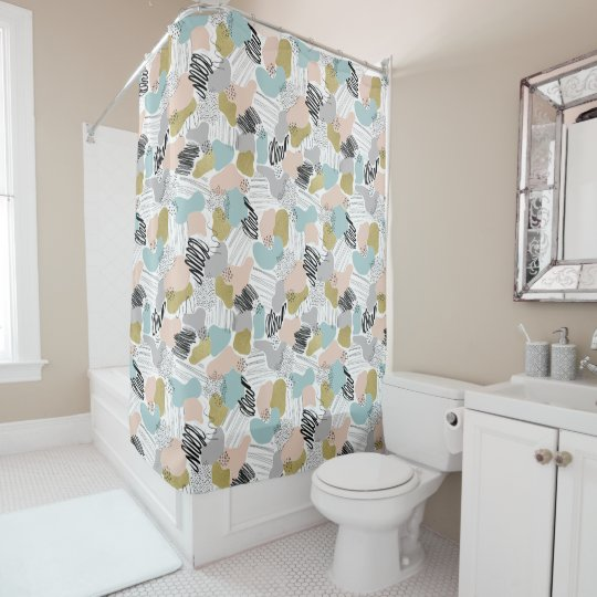 rideau en douche en pastel abstrait zazzle. Black Bedroom Furniture Sets. Home Design Ideas