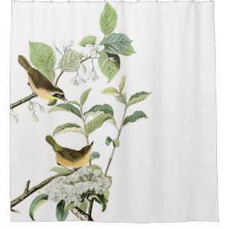 Rideau en douche floral animal d'oiseaux de