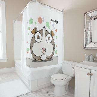 Rideau en douche la BG de hamster (gris, blanc)