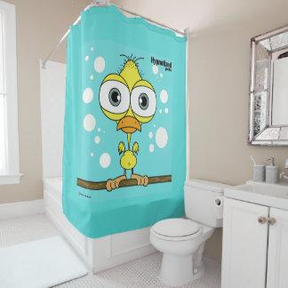 Rideau en douche la BG d'oiseau (jaune,