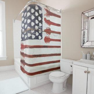 rideau en douche patriotique américain de musique