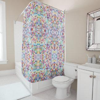 Rideau en douche peint des points  