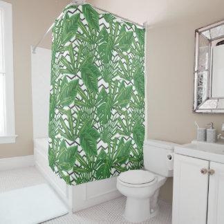 Rideau en douche tropical du zigzag | de feuille